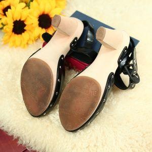 Dr. Scholl's Shoes - Dr. Scholl's Kitten Wood Sole Heel Black Patent